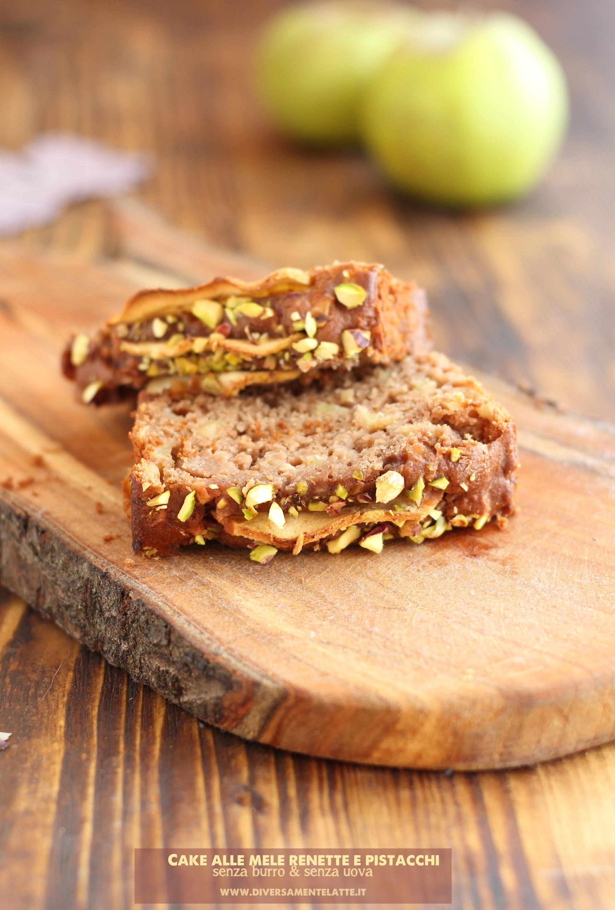 cake vegan alle mele renette e pistacchi