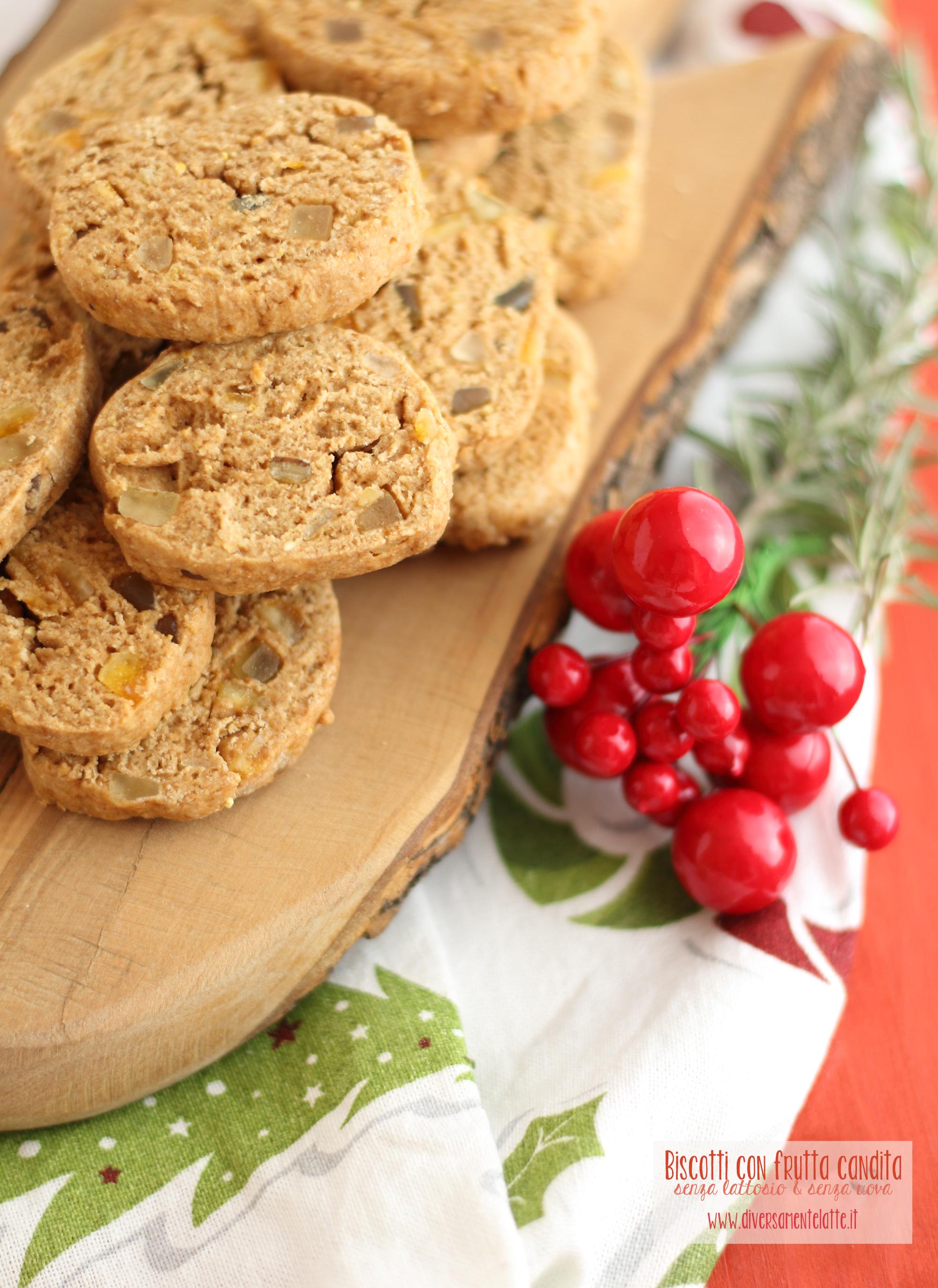 biscotti con canditi vegan