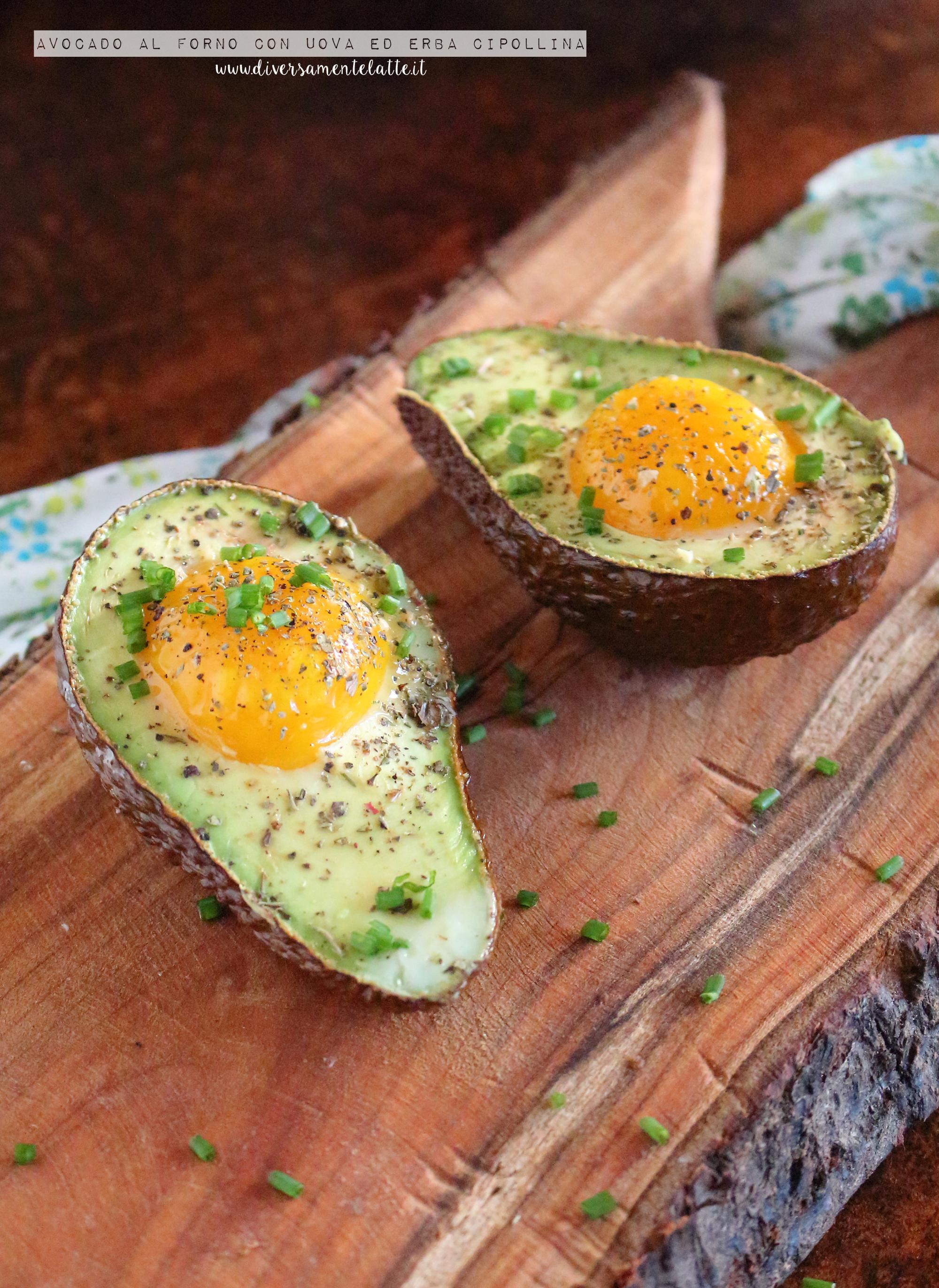 avocado al forno con uova