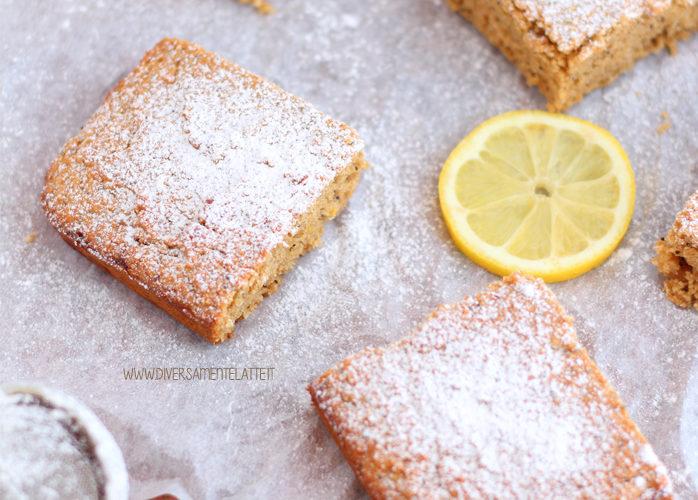Torta al limone e semi di papavero senza lattosio
