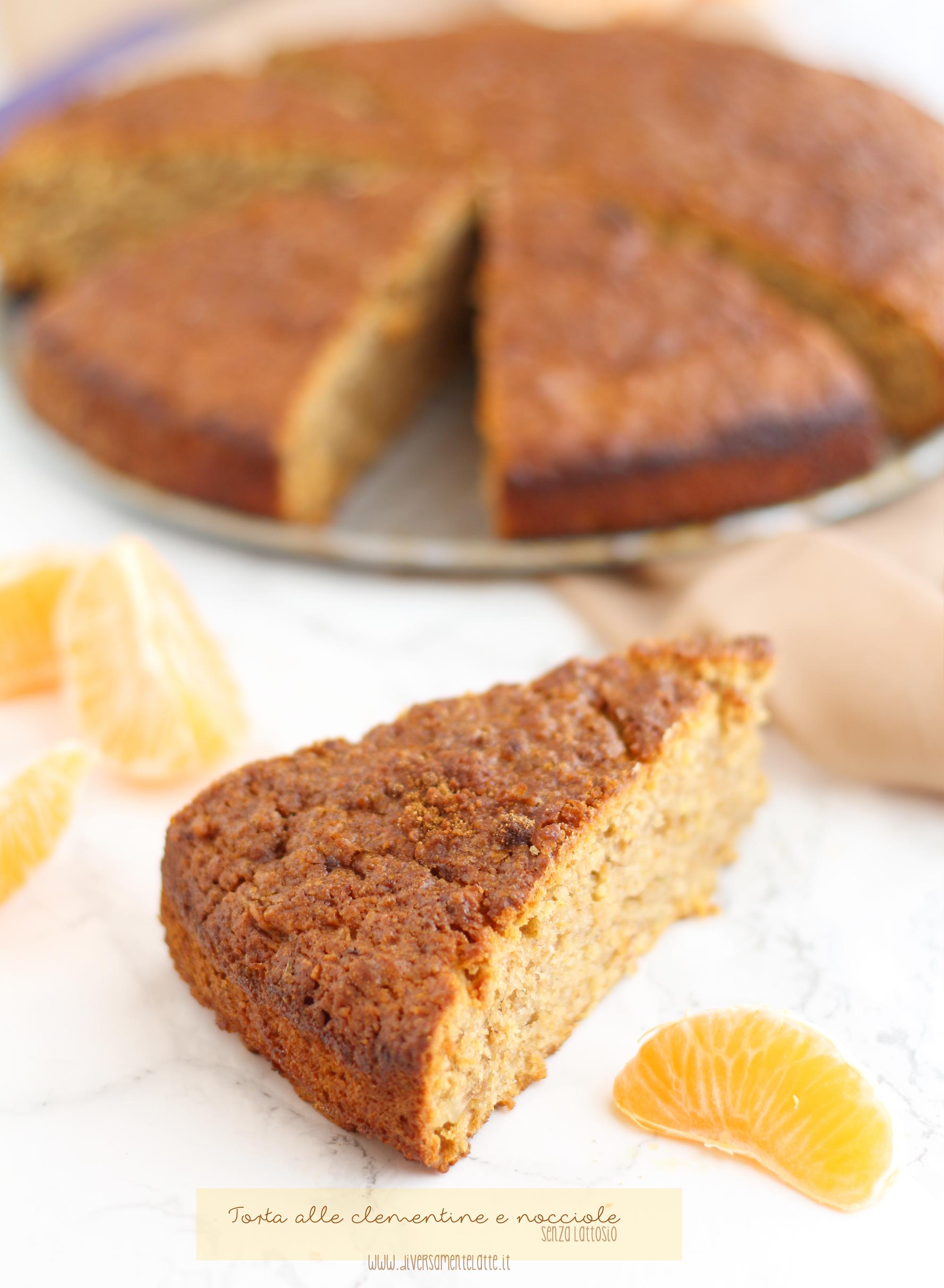 torta clementine e nocciole senza lattosio