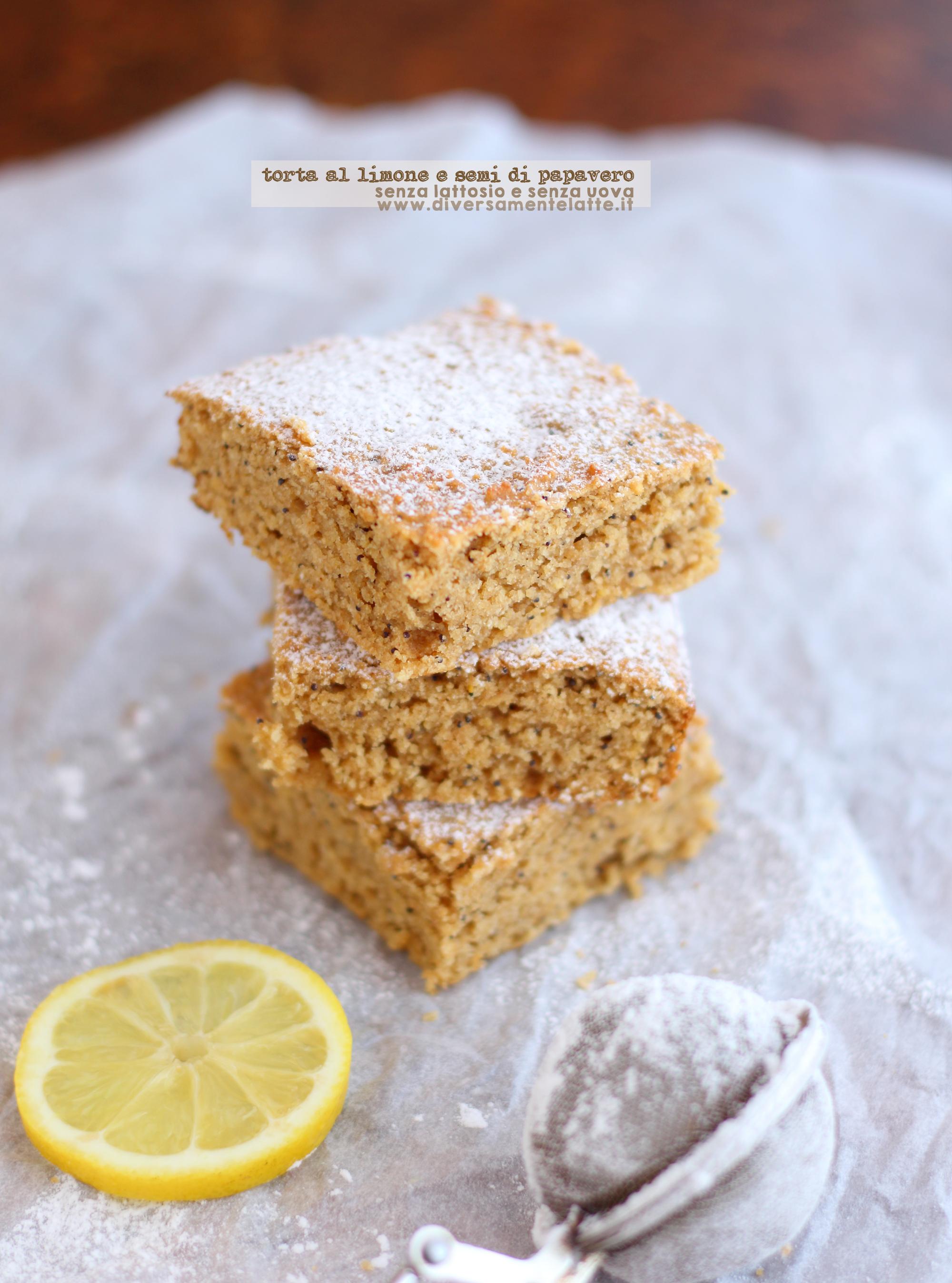 torta limone e semi di papavero senza lattosio senza uova