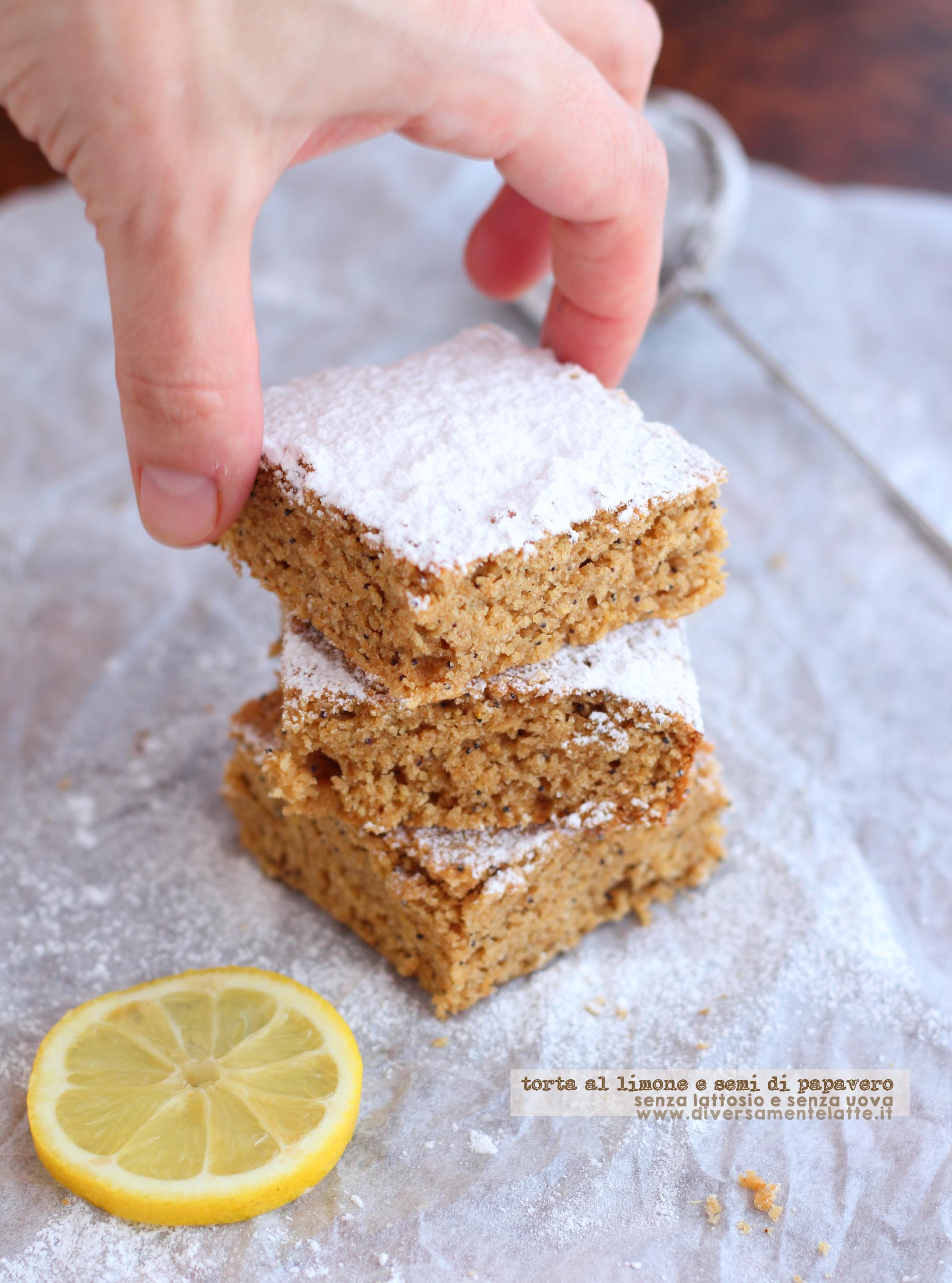 torta limone e semi di papavero senza lattosio