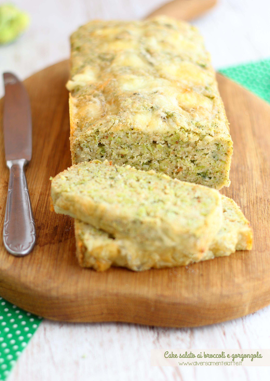 cake salato broccoli gorgonzola