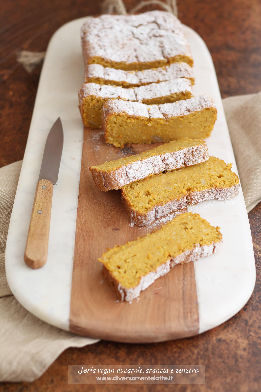 torta vegan di carote arancia zenzero