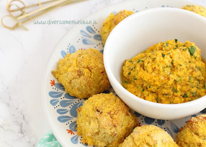 Polpette di merluzzo e patate con salsa alle carote