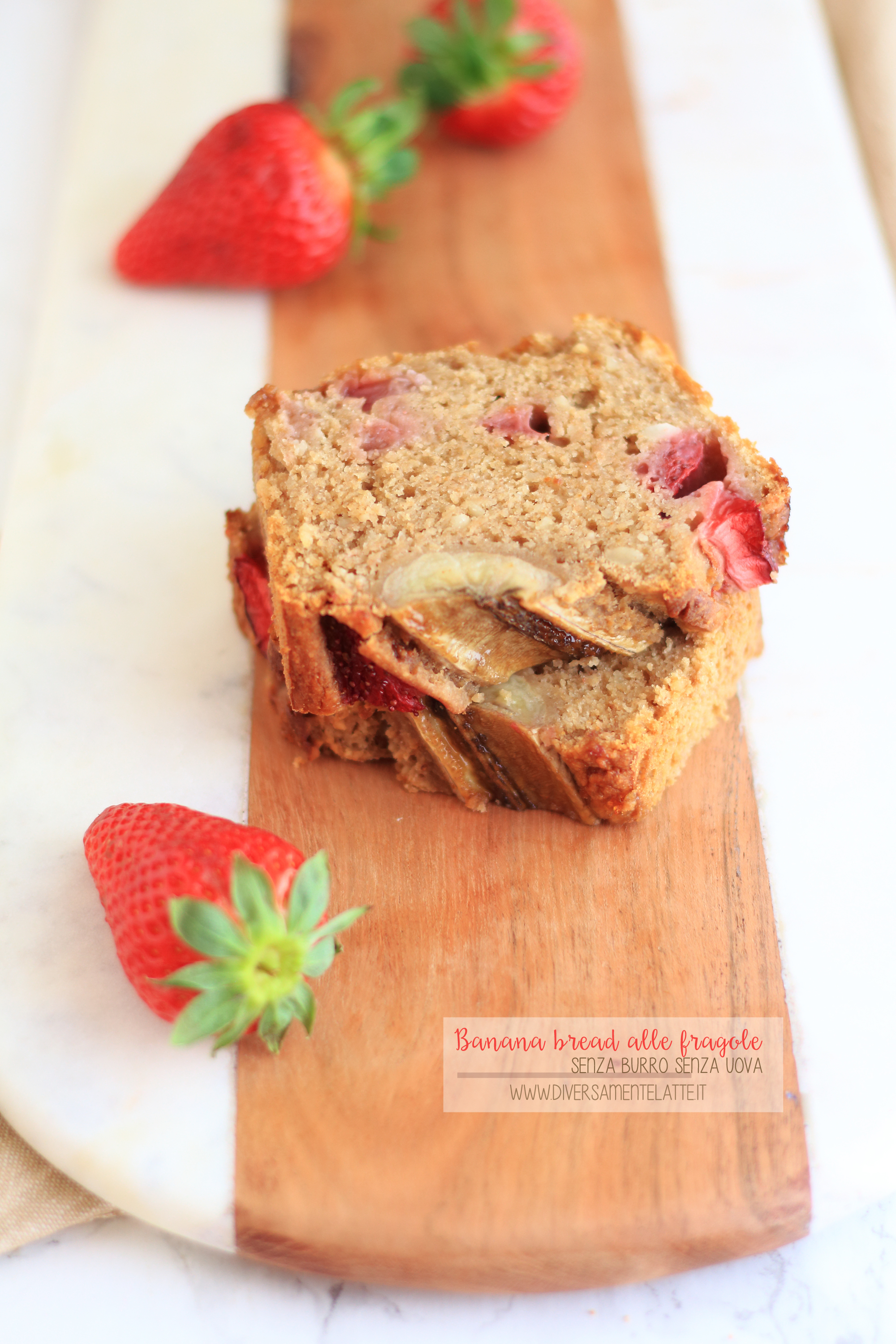 banana bread alle fragole