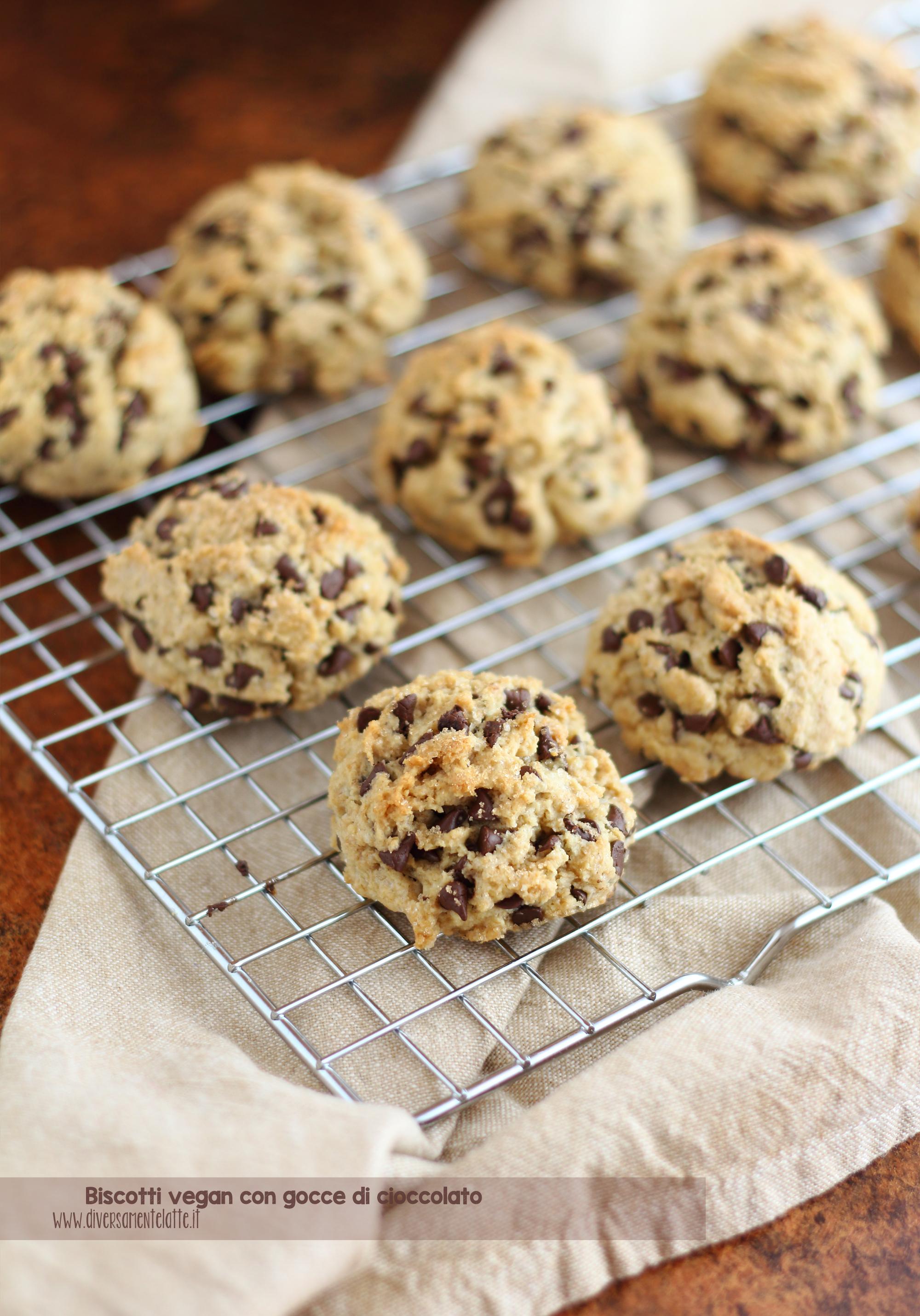 biscotti vegan gocce di cioccolato