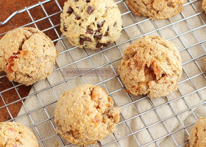 Biscotti integrali con albicocche secche