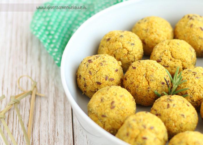 Polpette di soia gialla, grano saraceno e semi di lino