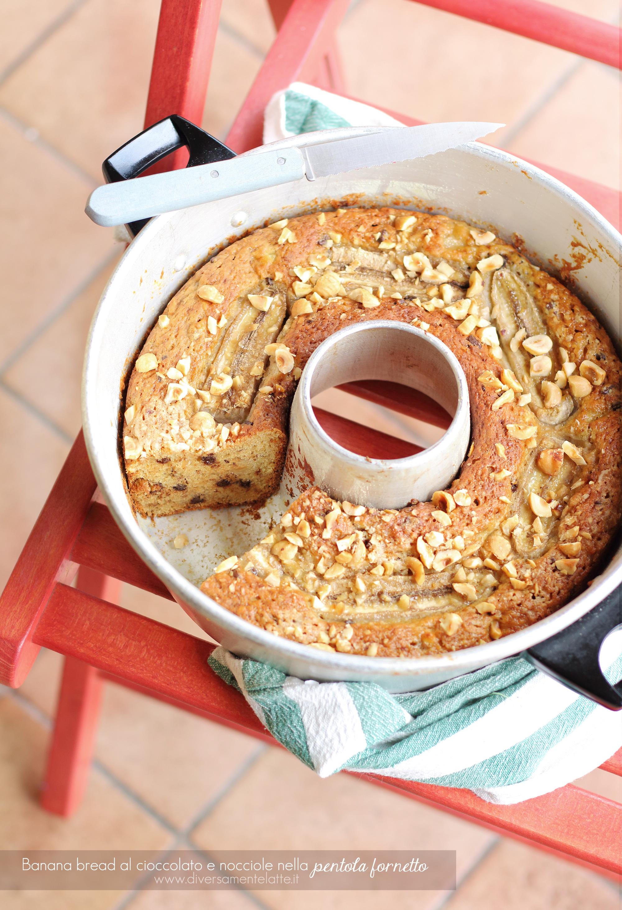 banana bread vegan nella pentola fornetto