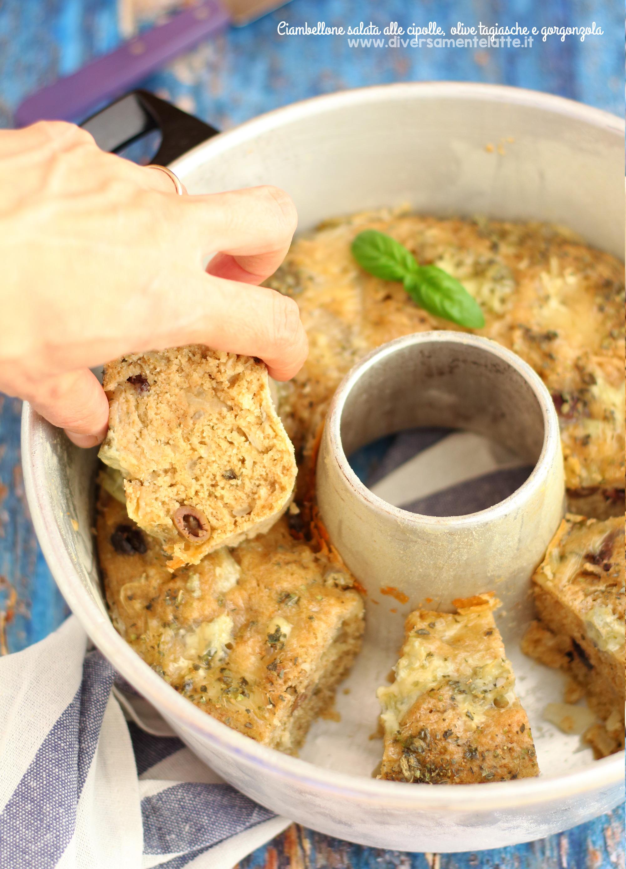 ciambellone salato alle cipolle pentola fornetto