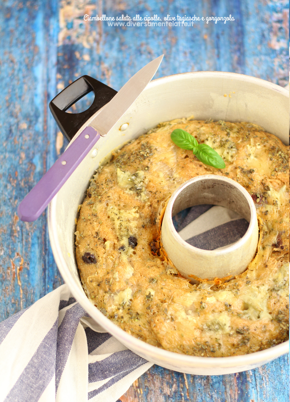 ciambellone salato alle cipolle senza lattosio
