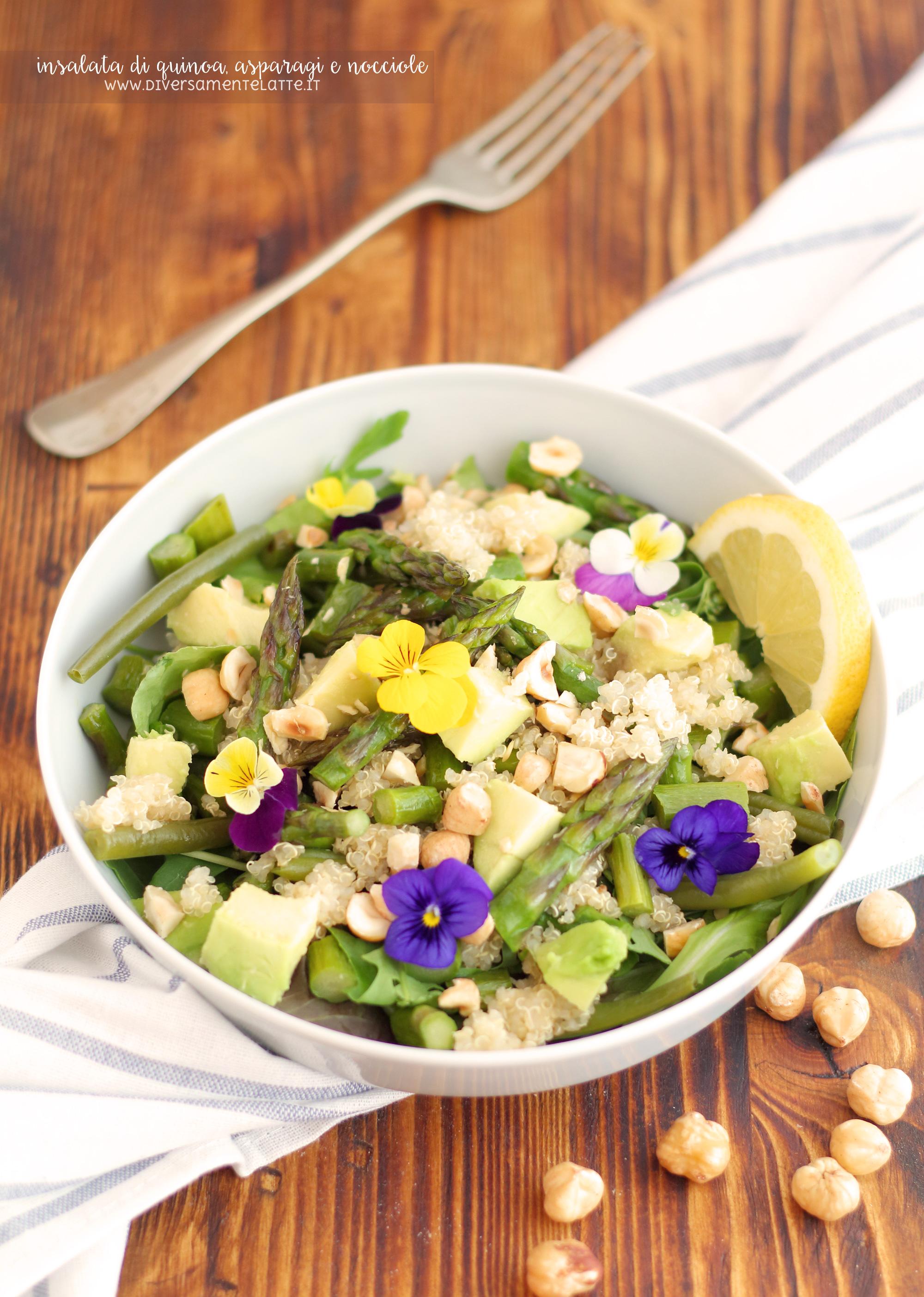 insalata quinoa asparagi
