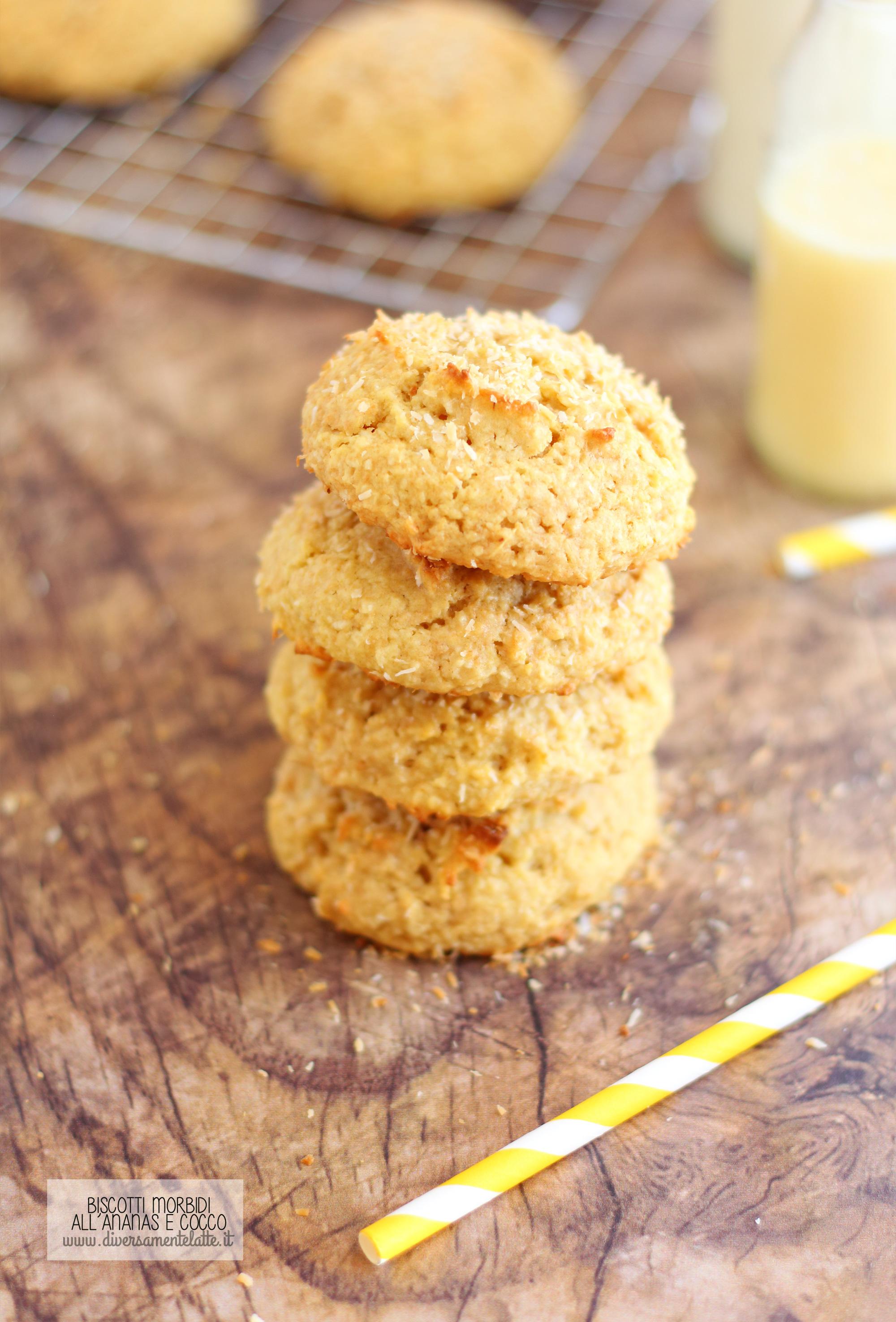 biscotti ananas e cocco senza lattosio