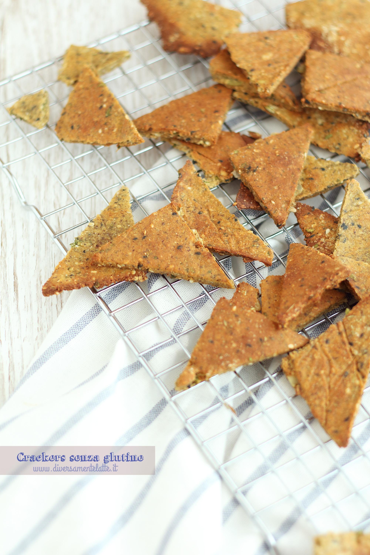 crackers senza glutine e lattosio