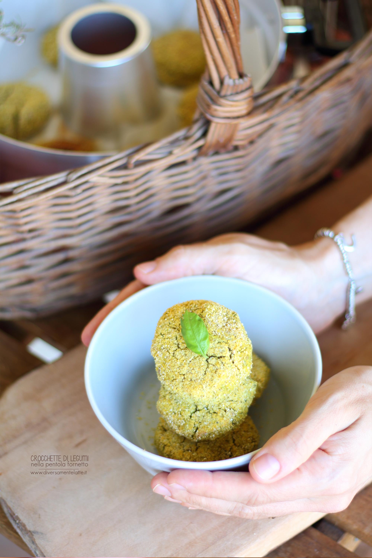 crocchette di legumi cottura nella pentola fornetto