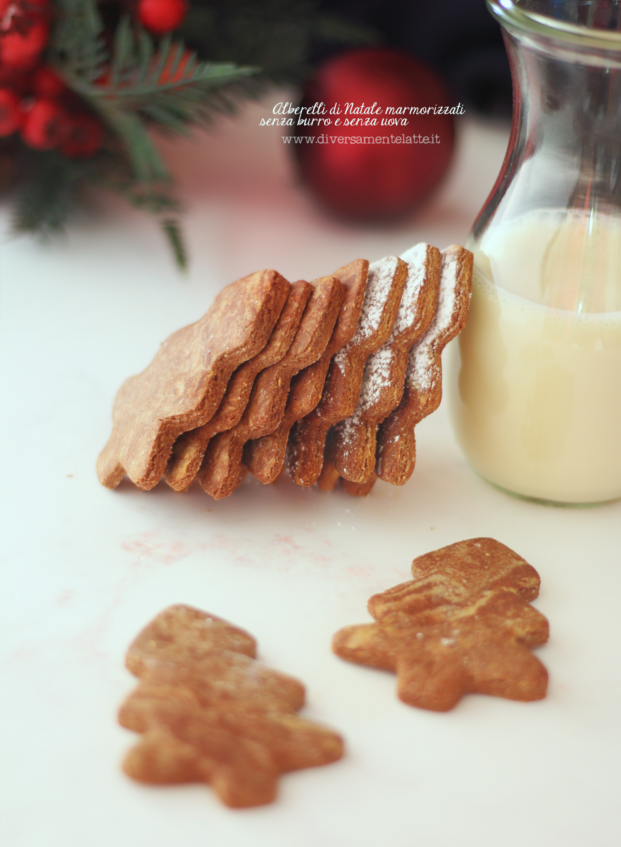 biscotti di natale marmorizzati