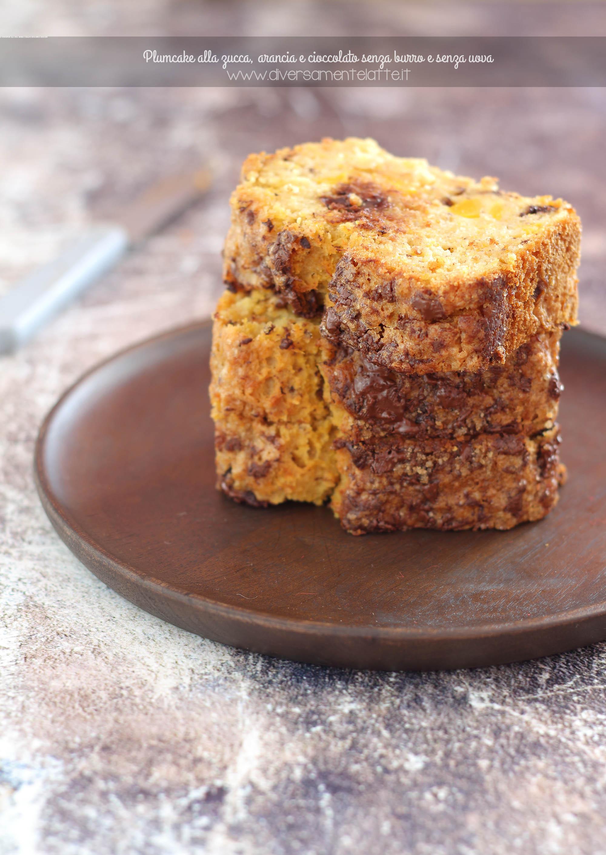 plumcake zucca arancia cioccolato