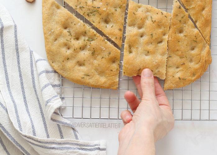 Focaccia con farina di borlotti