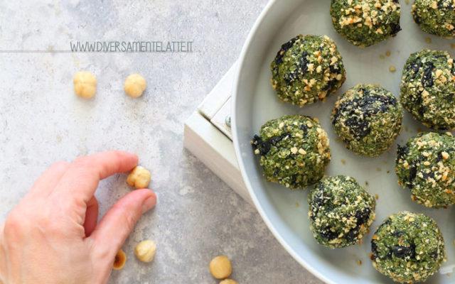 Polpette di quinoa, cavolo nero e nocciole