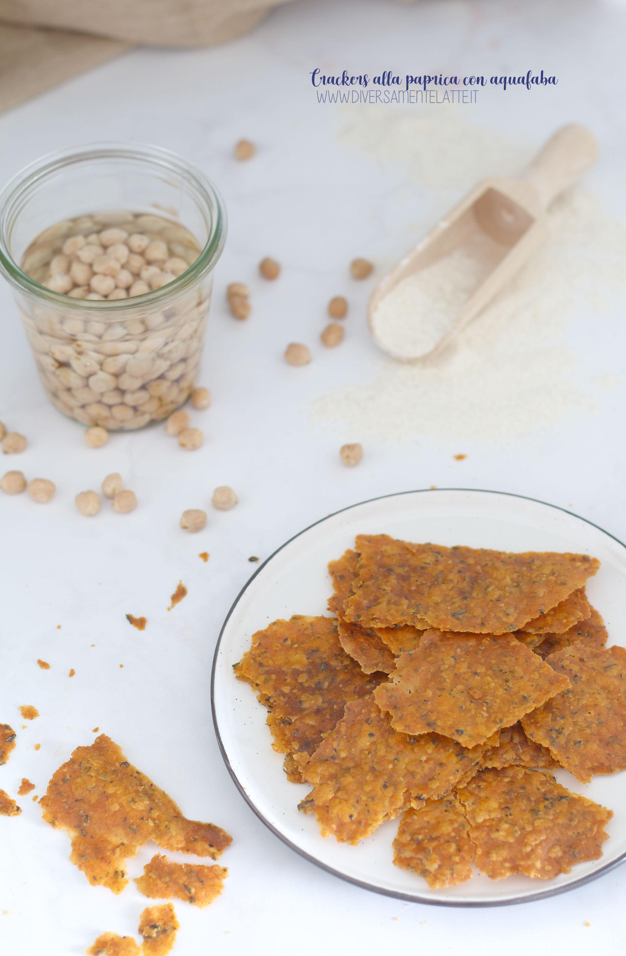 crackers alla paprica con aquafaba