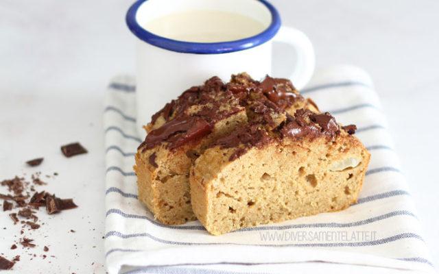 Plumcake alle pere e cioccolato senza latticini