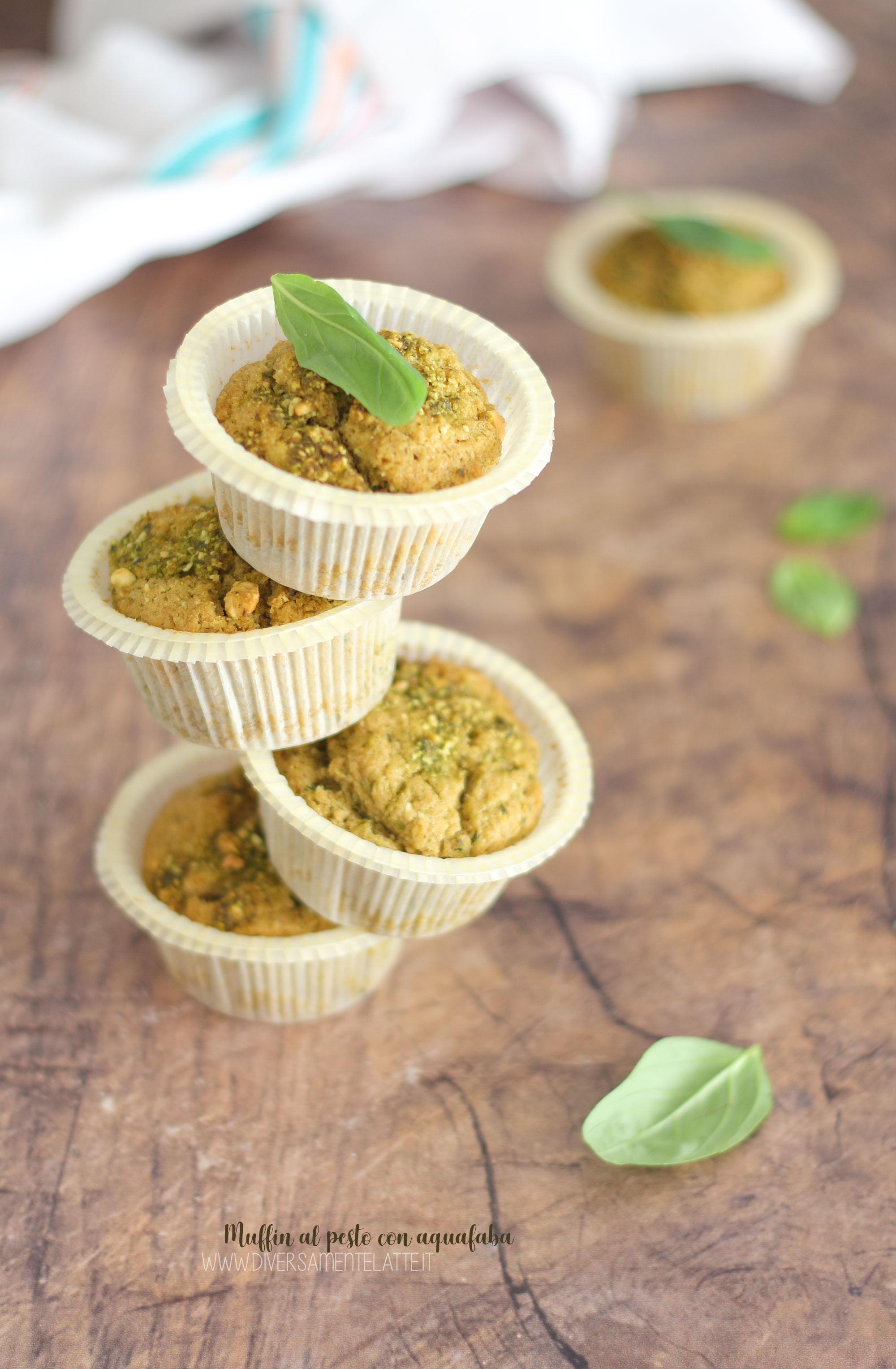 muffin al pesto con aquafaba