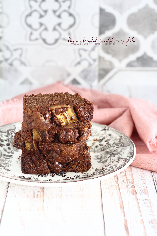banana bread senza glutine al cioccolato