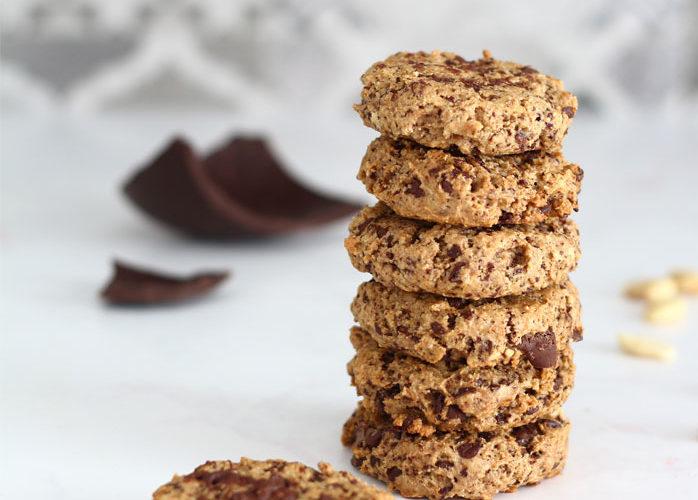 Biscotti con cioccolato senza burro e senza uova