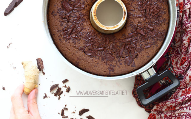 Ciambella cioccolato e zenzero nella pentola fornetto
