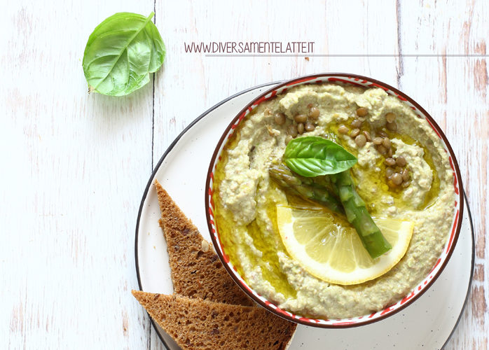 Hummus di lenticchie e asparagi