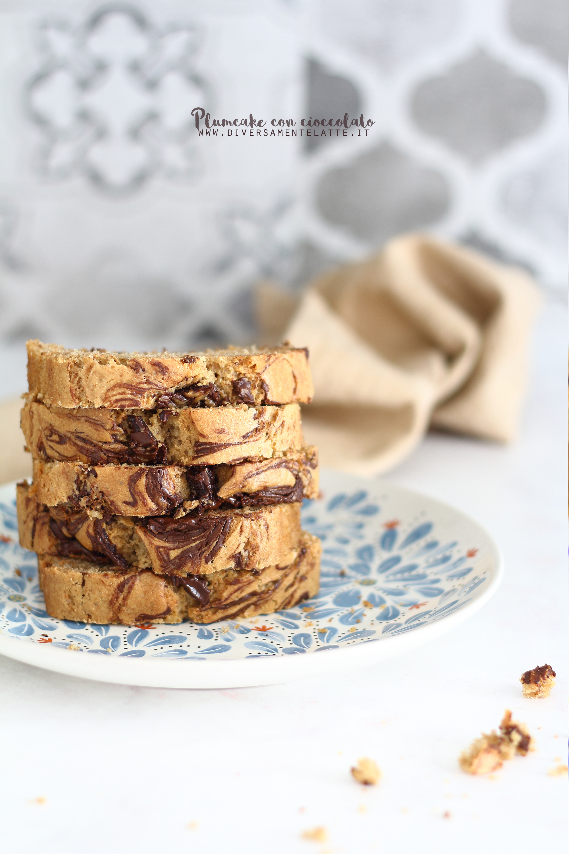 plumcake con cioccolato senza burro