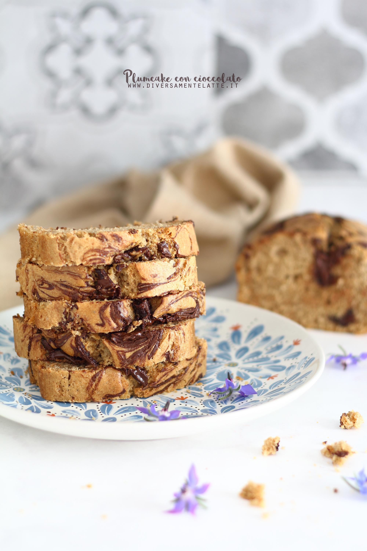 plumcake con cioccolato