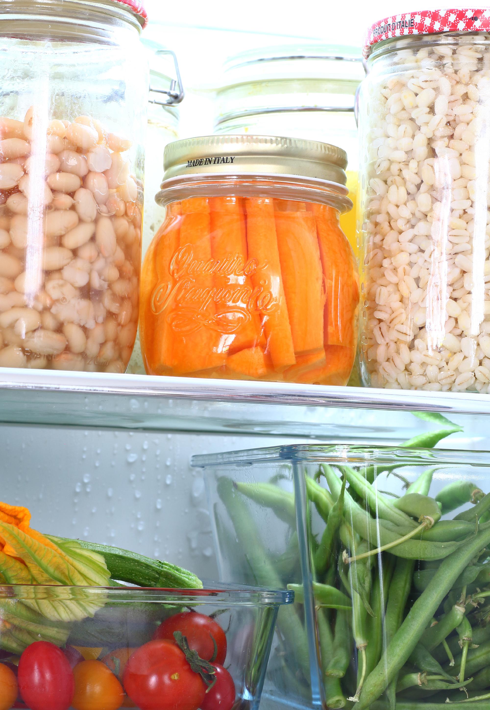 carote conservate sotto acqua