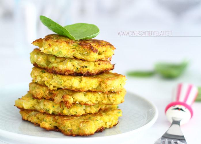 Frittelle di verdure senza uova