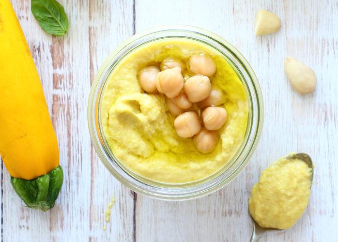 Pesto di zucchine gialle e ceci