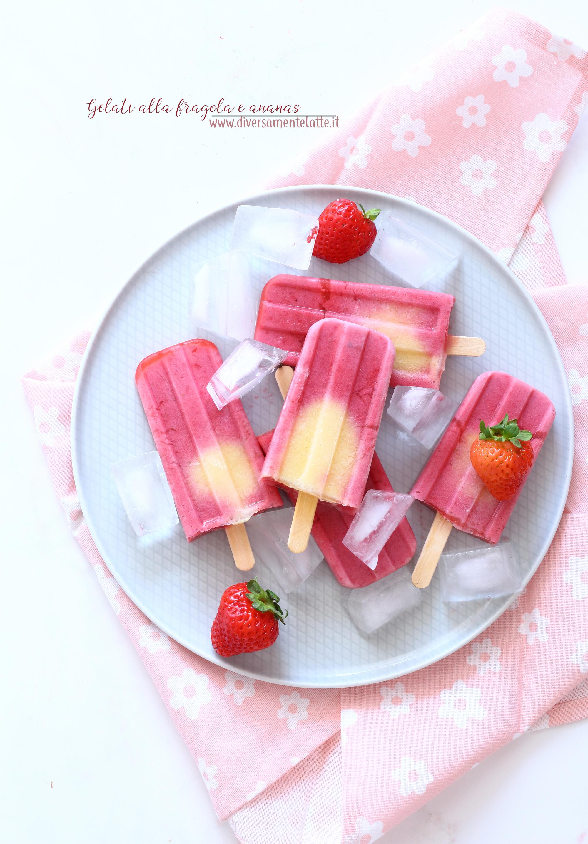 gelati alla fragola e ananas