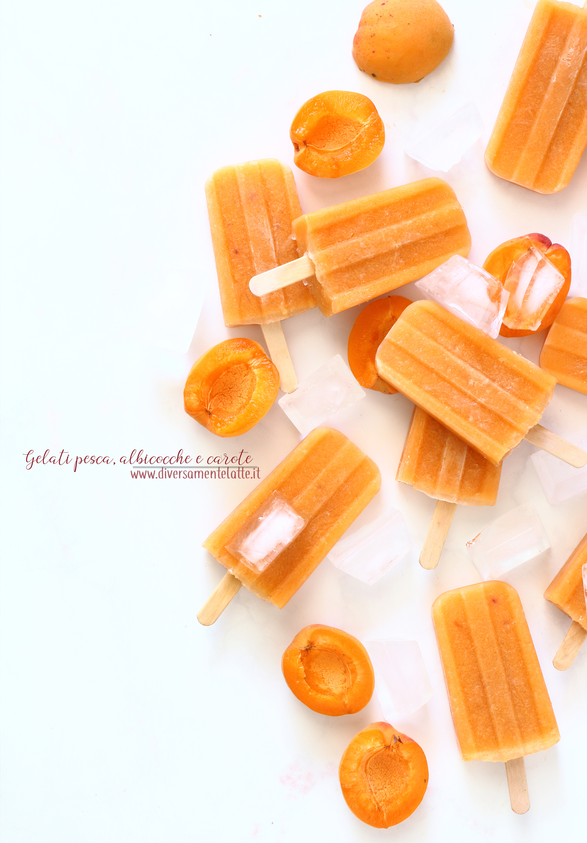 gelati pesca albicocche e carote