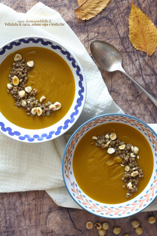 vellutata zucca lenticchie