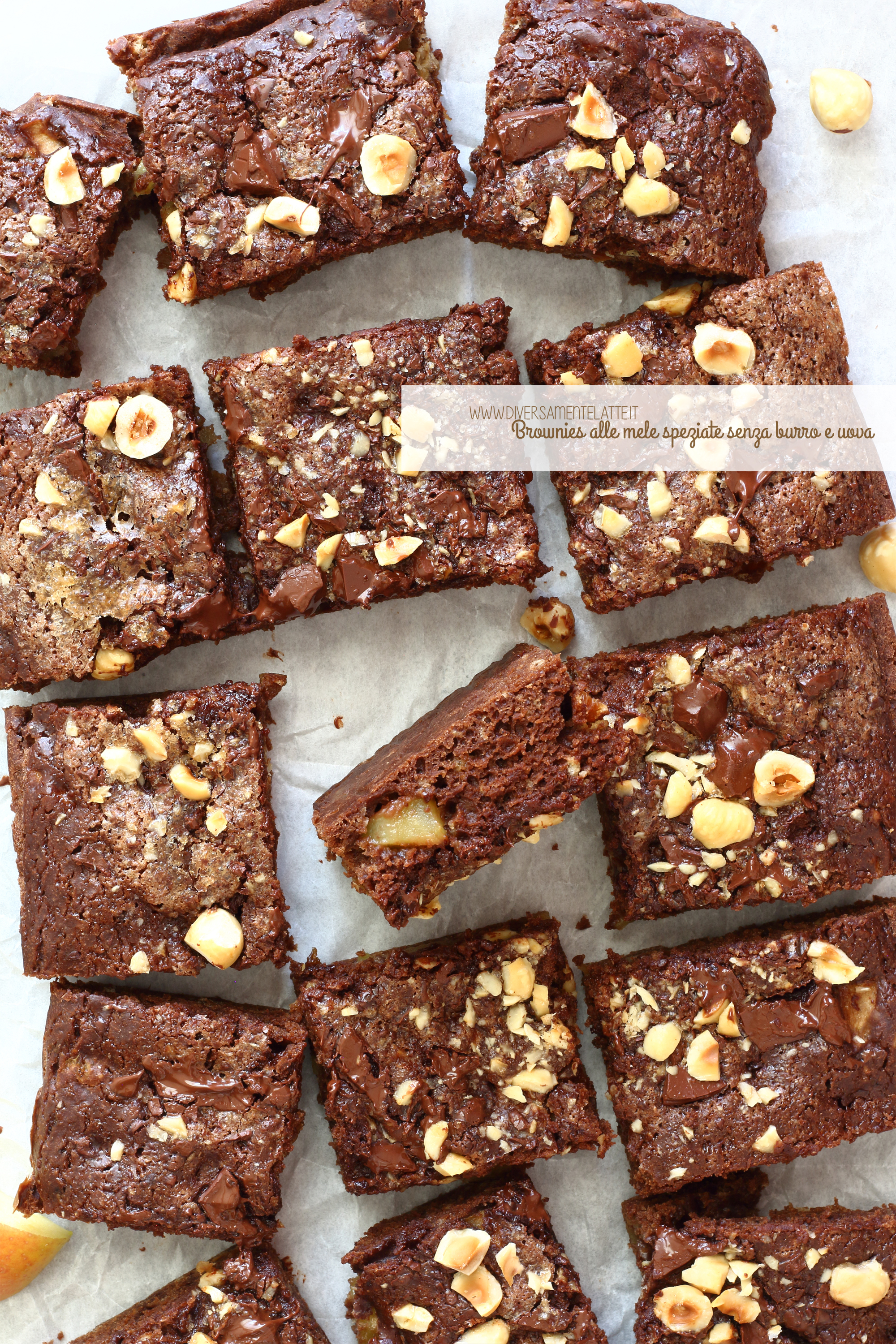 brownies alle mele speziate vegan