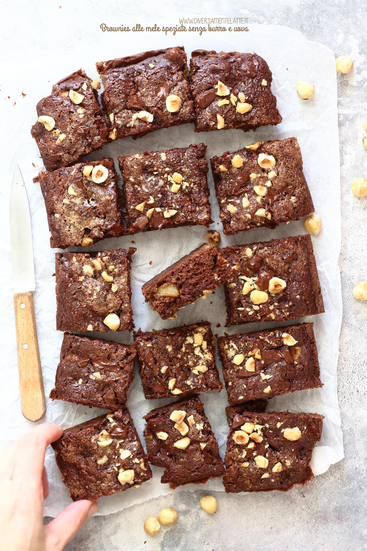 brownies alle mele speziate