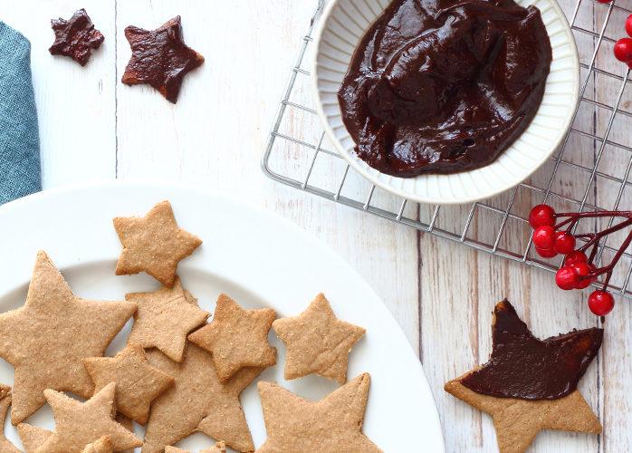 Biscotti di Natale con farina di castagne