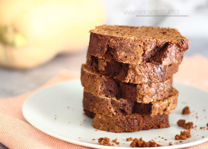 Plumcake alla zucca e cacao senza latticini