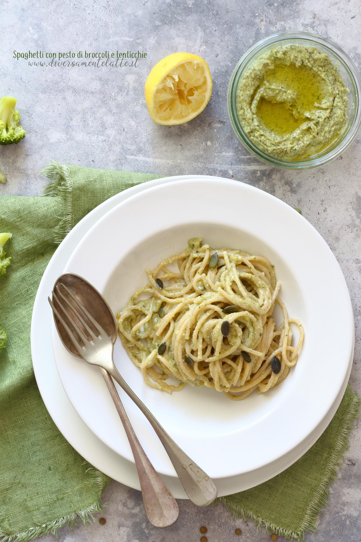spaghetti con pesto vegan
