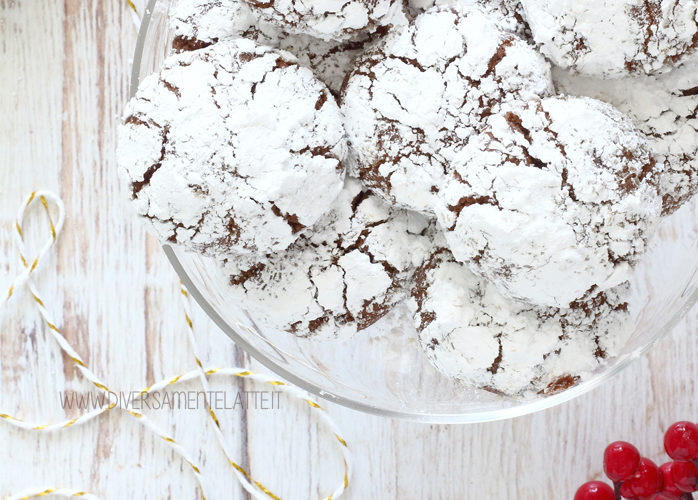Crinkle al cioccolato senza burro
