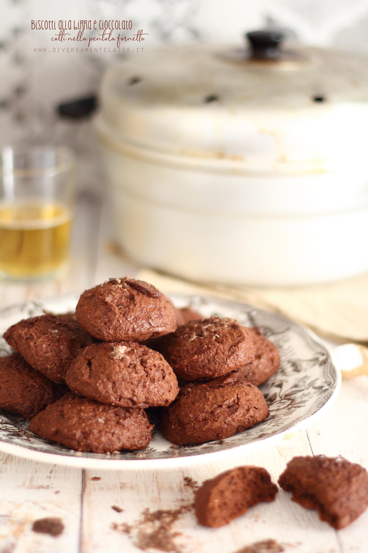 biscotti birra cioccolato nella pentola fornetto
