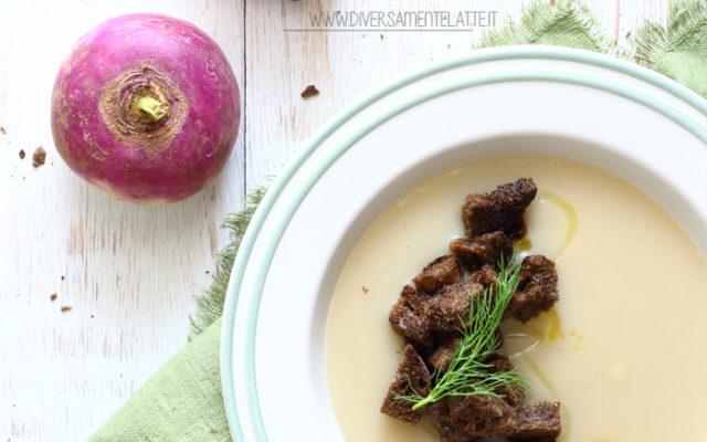 Vellutata di topinambur, finocchi e fagioli tondini