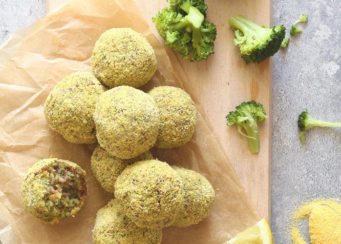 Polpette con lenticchie rosse e broccoli