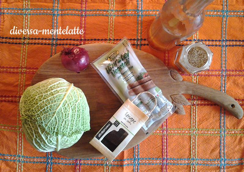 Ingredienti crauti con wurstel vegetali